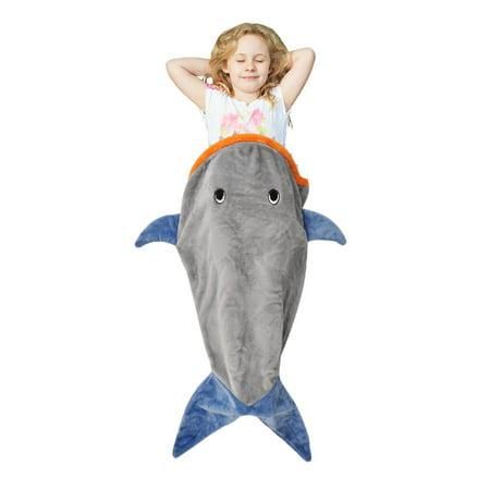 Catalonia Shark Tail Blanket Super Soft Plush Kids Sleeping Blanket Bag for Toddler Children Teens Boys Girls 52