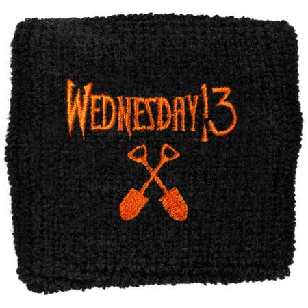 Wednesday 13 Men's Logo Athletic Wristband Black - Wednesday 13 Halloween 13-13