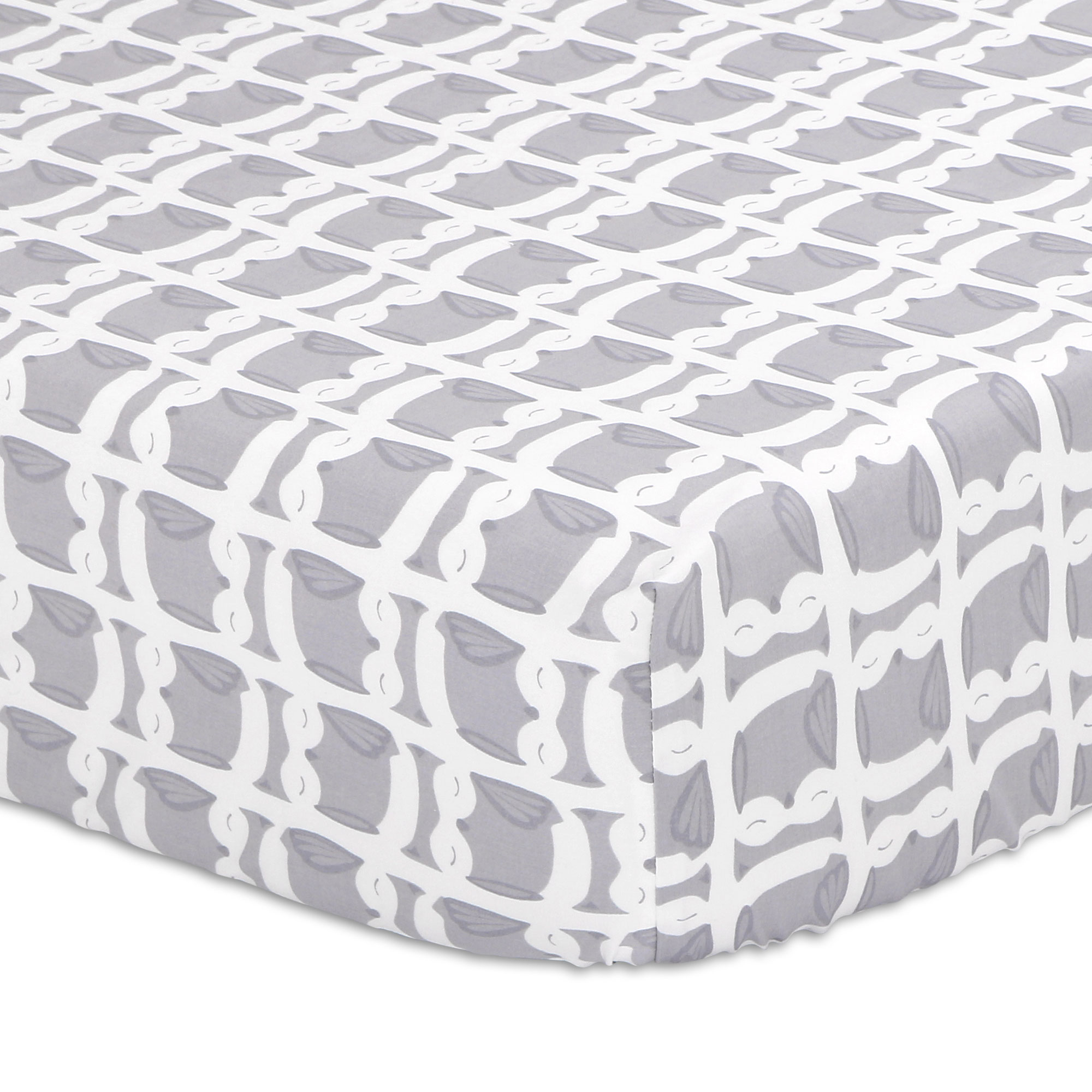 Grey Owl Fitted Crib Sheet by The Peanut Shell