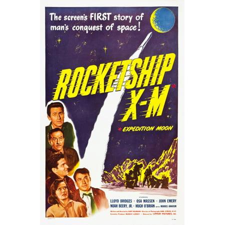 Rocketship X-M Top Lloyd Bridges Bottom Left Osa Massen 1950 Movie Poster Masterprint