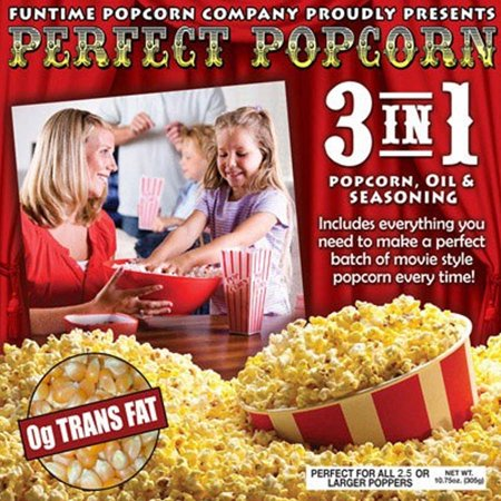 FunTime Perfect Popcorn 8 oz 3-in-1 Popcorn 12 Pouches - Popcorn Factory Halloween Special