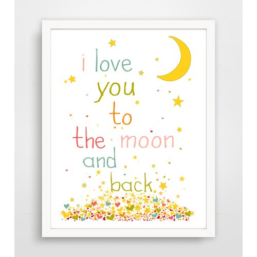 Finny and Zook I Love You to the Moon and Back Paper Print