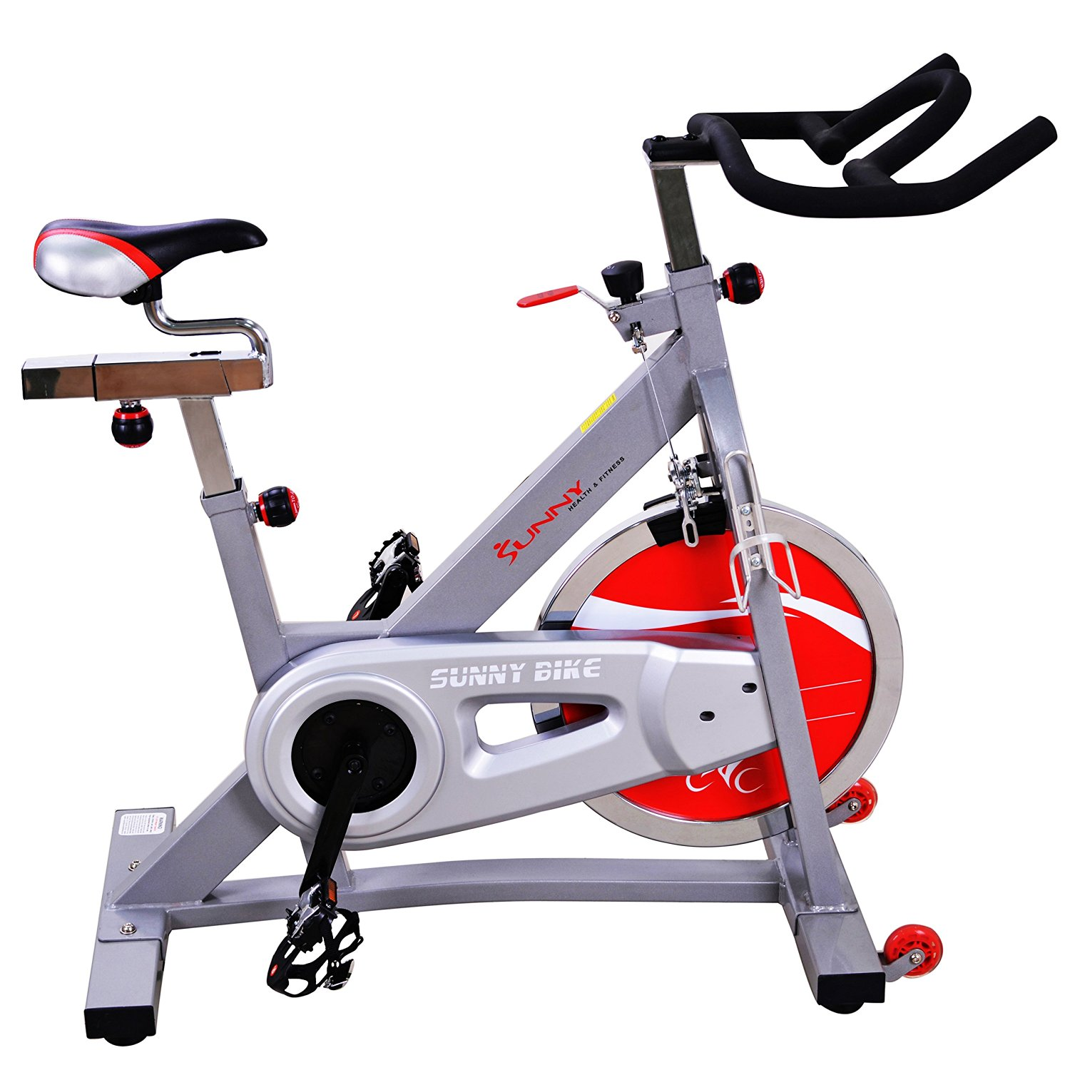 40lb Flywheel Belt Drive Pro Indoor Cycling Exercise Bike by Sunny Health & Fitness SF-B901B by Sunny Health & Fitness