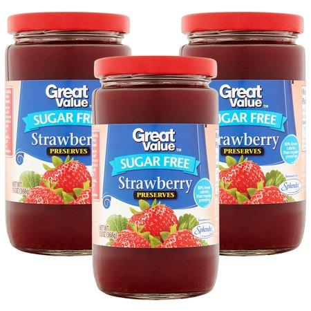 Sugar Free Preserves ((4 Pack) Great Value Sugar Free Strawberry Preserves, 13)