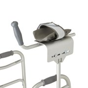 Medline Universal Platform Walker Attachment for 1 Inch Diameter Frame, Cradle Forearm for Comfortable Weight Bearing Mobility
