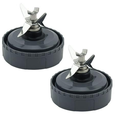 2 Pack Felji Extractor Blade Assembly 307KKU for Nutri Ninja Models BL660 BL663 BL663CO BL665Q BL740 (6 Fins)