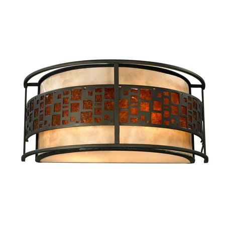 Z-Lite Oak Park 2-Light Wall Sconce, Java Bronze - Walmart.com