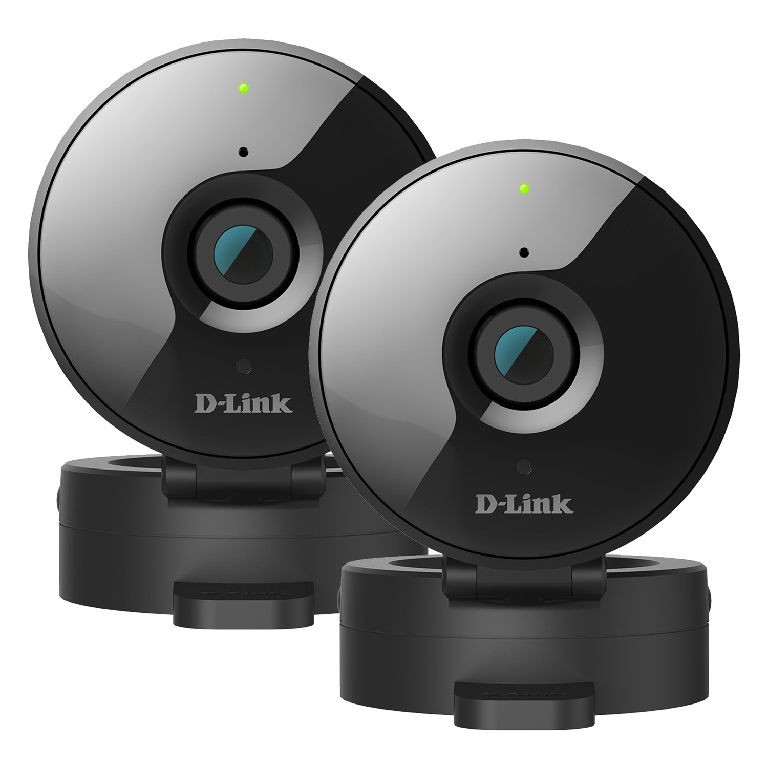 Refurbished 2-Pack D-Link HD WiFi 720P Home Security Camera with Night Vision - DCS-936L, Works with Google Assistant