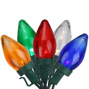 Brite Star 100ct C7 LED String Lights Multi-Color - 33' Green Wire