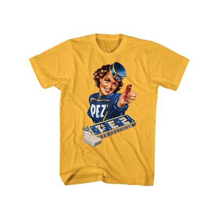 Peppermint Pez Logo Sugar Candy Dispenser American Classics Adult T-Shirt