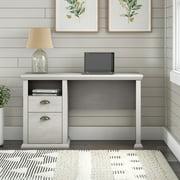 Bush Furniture Yorktown 50W Home Office Desk with Storage, Off-White