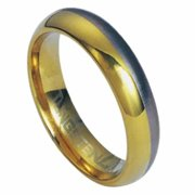 AAB Style RTS-21 Tungsten Carbide Ring with Gold Stripe