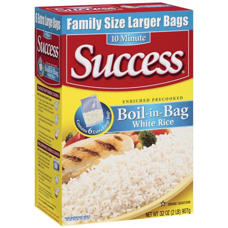 Success Boil In Bag Enriched Precooked White Rice  32 Oz