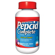 Pepcid Complete Dual Action Acid Reducer and Antacid Chewcap, Berry Flavor, 100 Ct