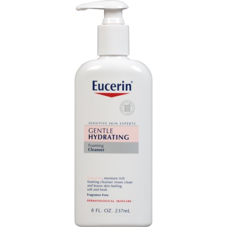 (2 pack) Eucerin Sensitive Skin Gentle Hydrating Cleanser 8 fl. oz.