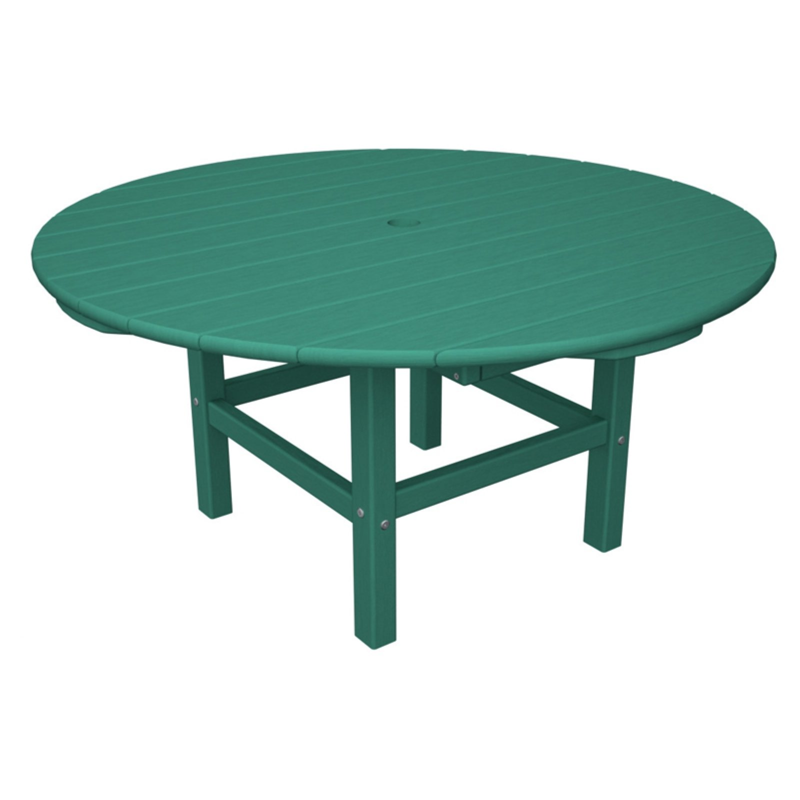 POLYWOOD® Classic Recycled Plastic Conversation Table - 38 in. Vibrant Colors