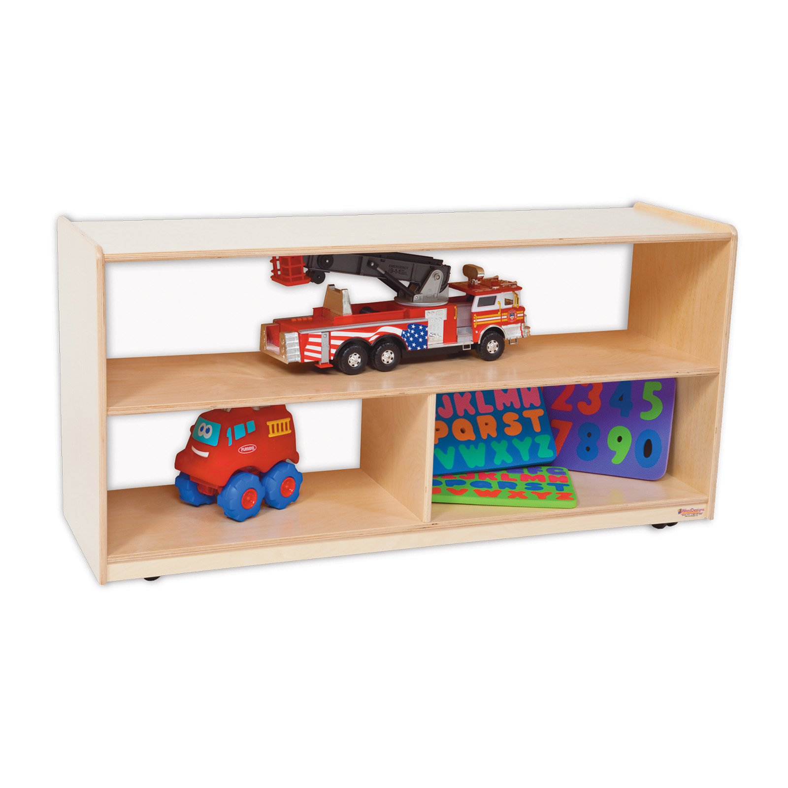 Wood Designs Versatile Shelf Storage with Acrylic Back - 24H in.