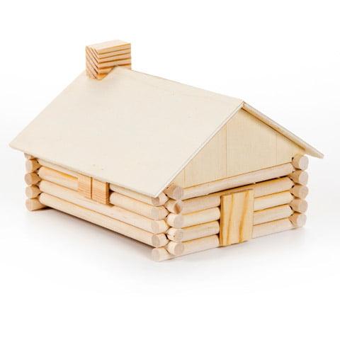 Wood Model Kit: Log Cabin