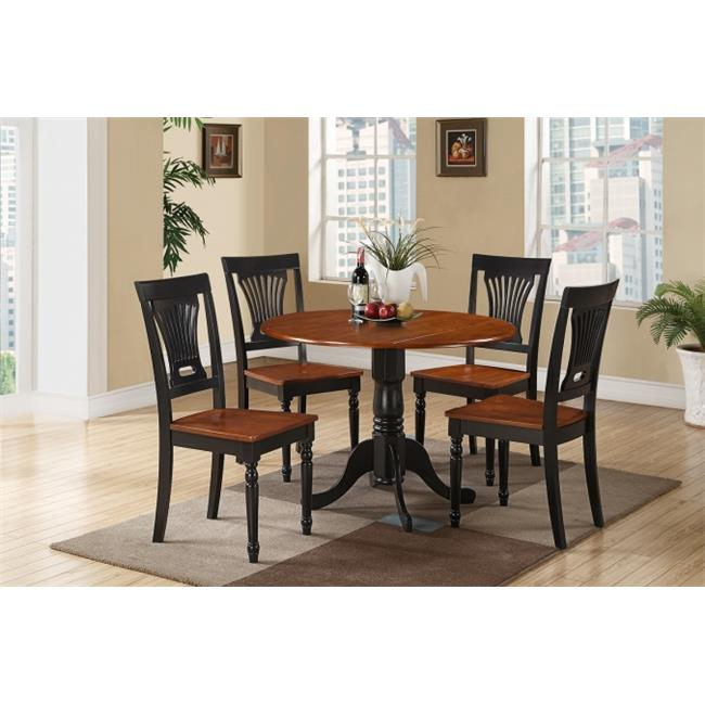 5 Piece Small Kitchen Table and Chairs Set-Table and 4 ...