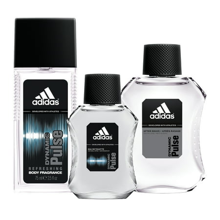 Adidas Dynamic Pulse Fragrance Gift Set, Aftershave, Cologne Spray & Body Spray ($30 Value) Adidas Gift Sets