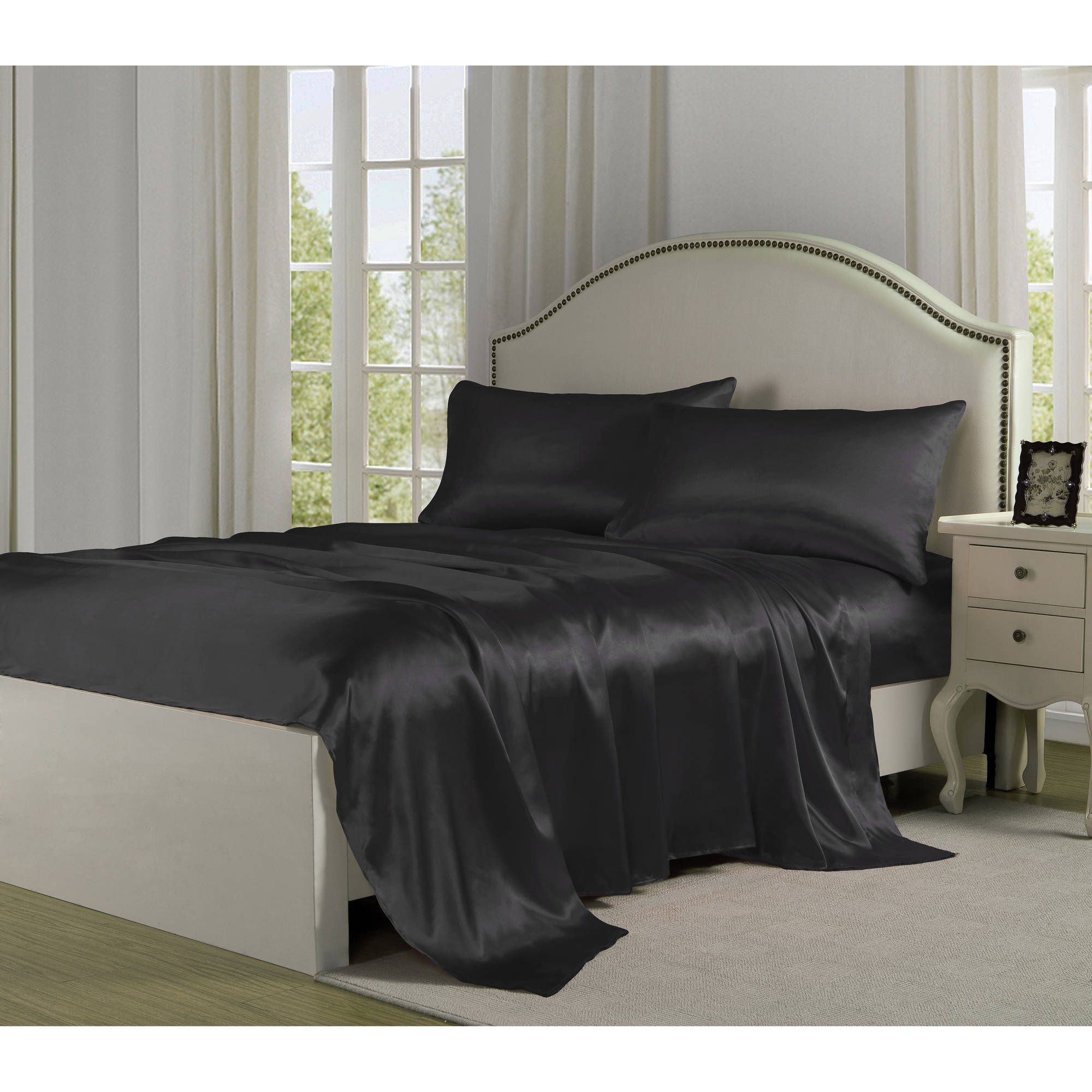 Satin Charmeuse Silky Sheet Set Collection by Levinsohn