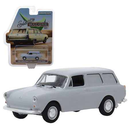 Estate Wagons 1968 Volkswagen Type 3 Squareback Panel Greenlight 1:64 Scale