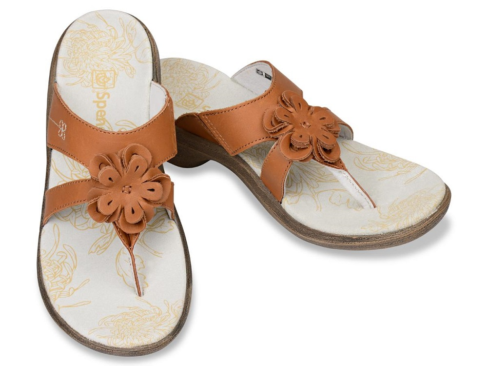 Spenco Rose - Supportive Casual Sandals - Tan Women's - Size 10