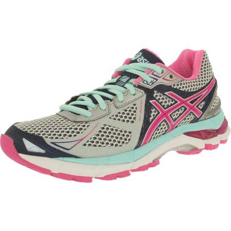 Asics Women's Gt-2000 3 Lightning/Hot Pink/Navy Low Top Running Shoe - 6N