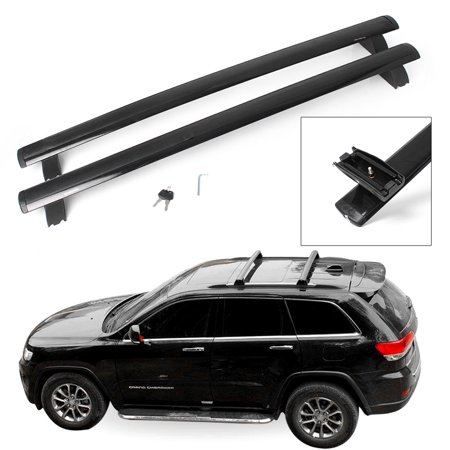 Jeep Cherokee Cargo - GZYF Black Top Roof Rack Cross Bar Cargo Luggage For 2011-2018 Jeep Grand Cherokee