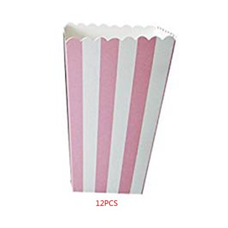 12Pcs Favor Candy Treat Popcorn Boxes Wedding Party Supply Decoration Christmas Gifts holder (Xmas Party Supplies)