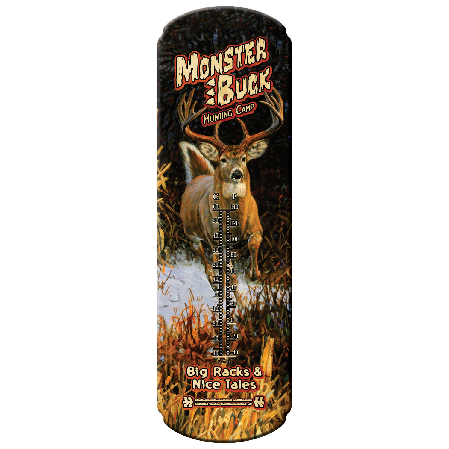 REP X-Large Tin Thermometer    Monster Buck Hunting Camp