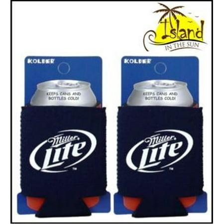 (2) Miller Lite Logo Beer Can Koozies Cooler - Custom Beer Koozies