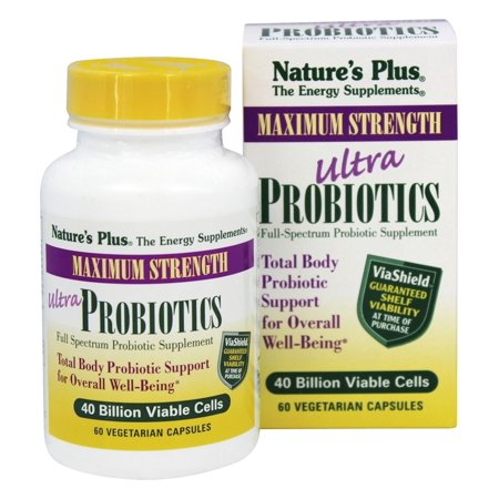 Nature's Plus - Ultra Probiotiques Avec ViaShield Force maximale - 60 Vegetarian Capsules