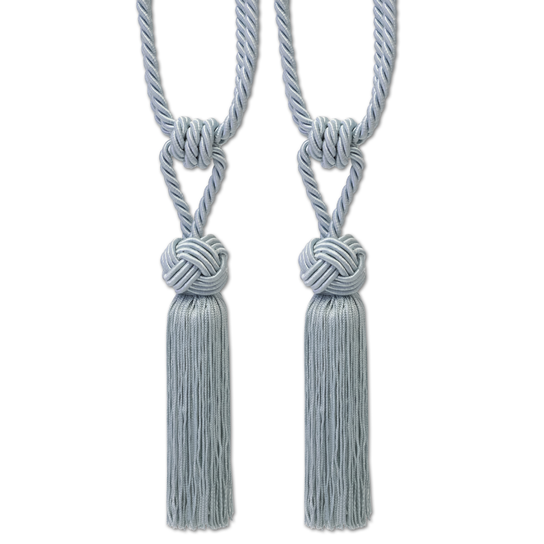 Decorative Braided Knot Rope Tassel Curtain Holdback Tieback 2 Pack