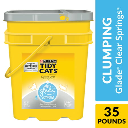 Purina Tidy Cats Clumping Cat Litter, Glade Clear Springs Multi Cat Litter, 35 lb. Pail Multi Cat Litter