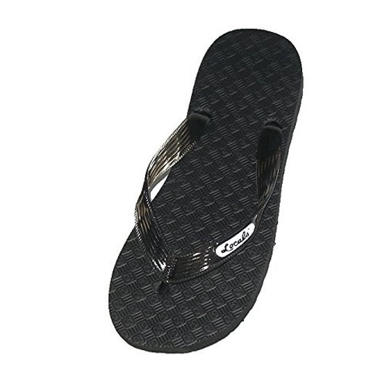 f7e688353b3 Locals - Locals Black with Black Strap Slipper - Walmart.com
