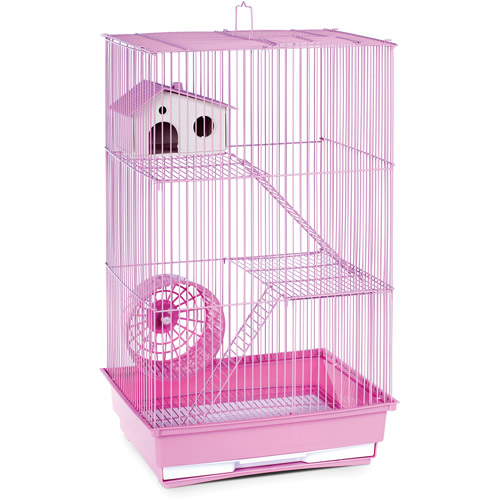 Prevue Pet Products 3-Story Hamster & Gerbil Cage, Pink
