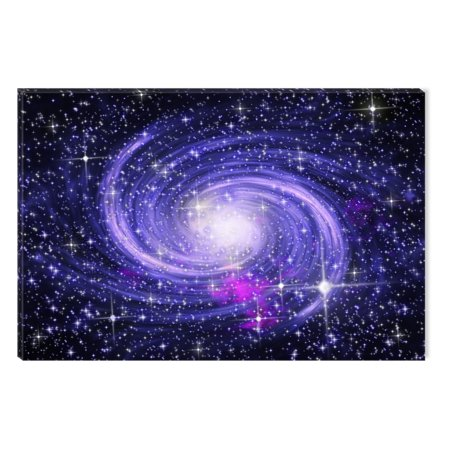 Startonight Canvas Wall Art Amzing Blue Galaxy Universe Abstract Dual View Surprise Artwork Modern Framed Ready To Hang Wall Art 100 Original Art