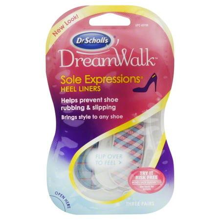 Dr. Scholl's DreamWalk Sole Expressions Heel Liners 3 - Scholls Heel Liners