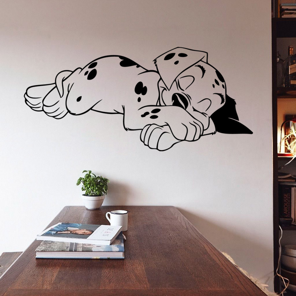 Sleeping Puppy Bedroom Wall Stickers Vinyl Home Wall Decor Decals