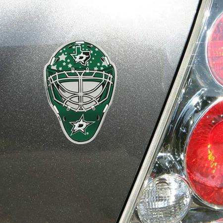 Dallas Stars Goalie Mask Auto Emblem - No Size - Winstons Dallas Halloween