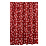The Holiday Aisle Pullen Decorative Christmas Printed Snowflakes Design Single Shower Curtain