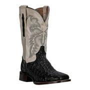 e08eb64a83e Dan Post Western Boots Mens Cowboy Denver Caiman Black Bone DP2805