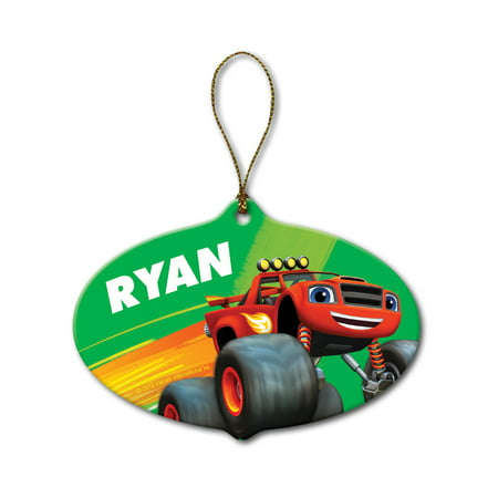 Personalized Blaze and the Monster Machines Christmas Hero Ornament
