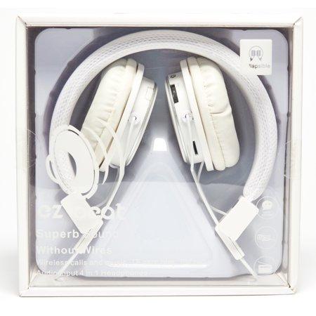 Super Sound Wireless Earphone 4 in 1 Headset White by Zebra