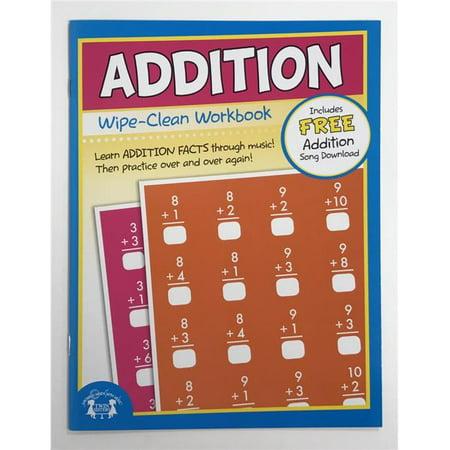 Creative Teaching Materials TW1225 Addition Wipe Clean Workbook - Teaching Supply Stores