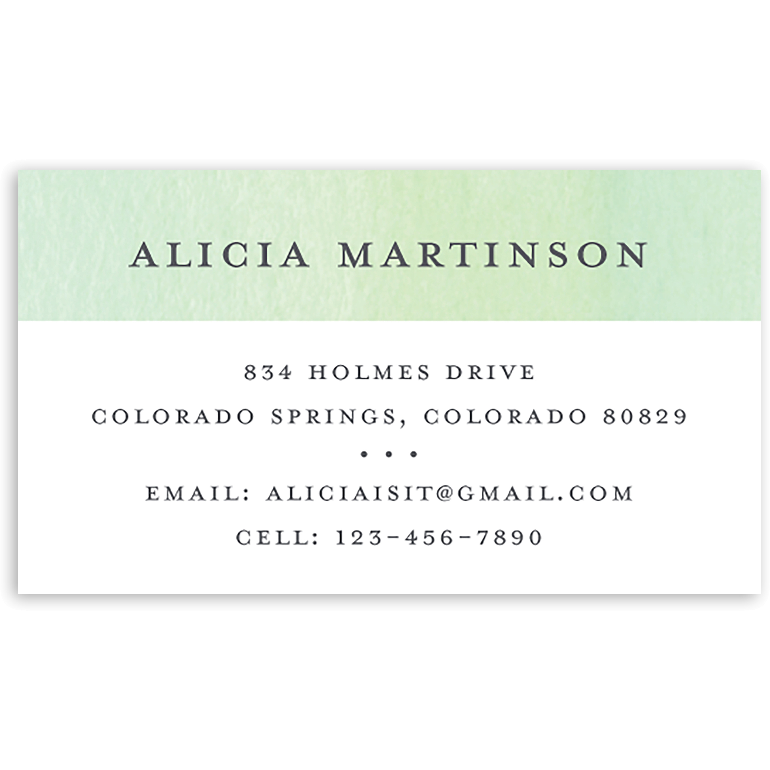 Airy Florist - Personalized 3.5 x 2 Business Card