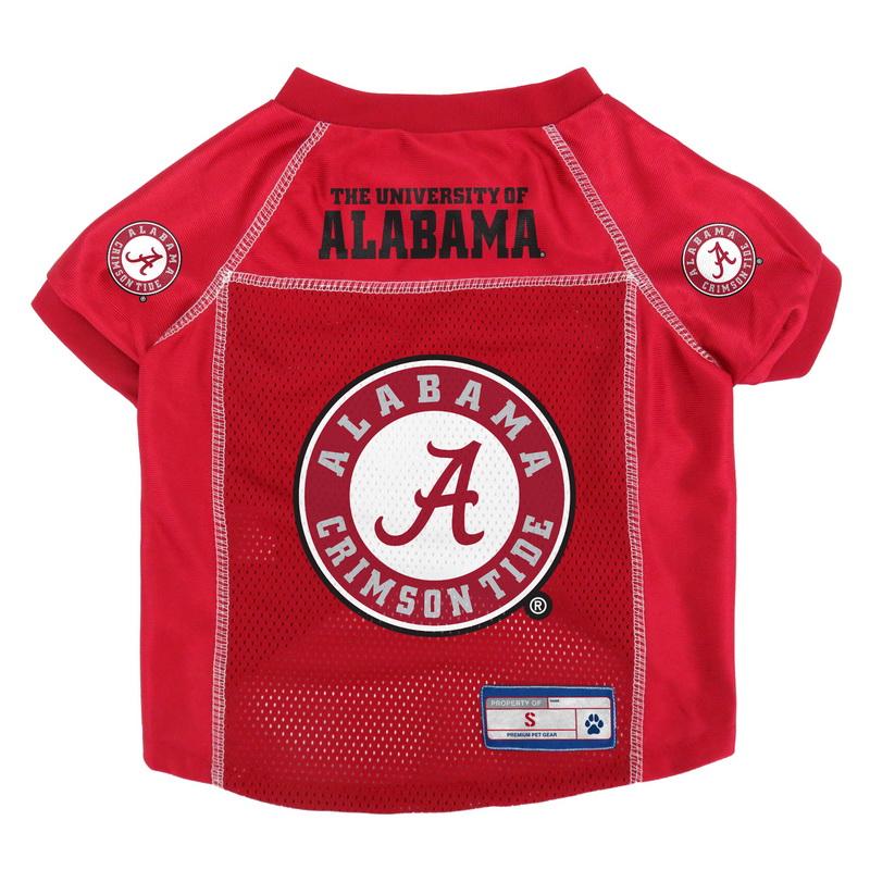 Alabama Crimson Tide Mesh Pet Jersey - Small