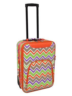 Chevron Multi-Print 20 Rolling Carry-On Luggage Suitcase