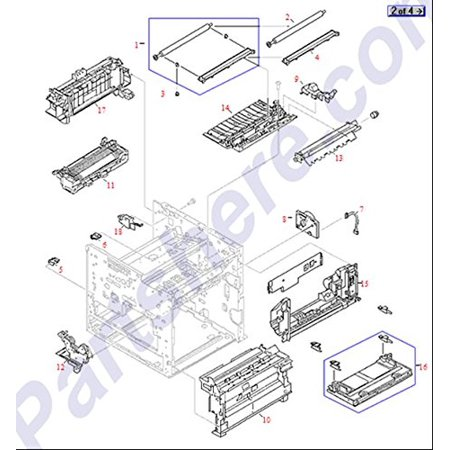 Hp Ce863 67901 250 Sheet Optional Tray 3 Feeder Assembly Main Body   Includes Paper Cassette